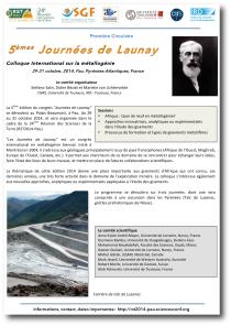 Premire circulaire Journees de Launay